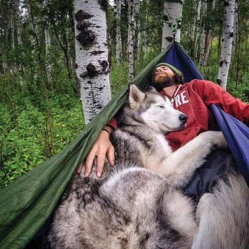 Loki The Wolfdog & Kelly Lund